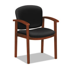 HON® 2111 Invitation Reception Series Wood Guest Chair, Cognac/Solid Black Fabric HON2111COCU10