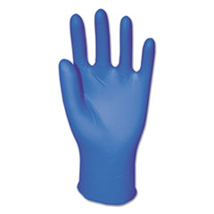 Boardwalk® Disposable Powder-Free Nitrile Gloves, Medium, Blue, 5 mil, 100/Box