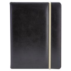 Universal® Padfolio, 8 1/2 x 11, Vinyl, Black