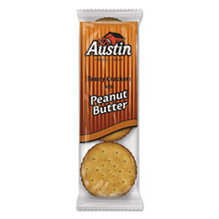 Austin® Toasty Crackers w/Peanut Butter, 6-Piece Snack Pack, 45 Packs/Box