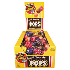 Tootsie Roll® Tootsie Pops, 0.76 oz, Assorted Flavors, 100/Box
