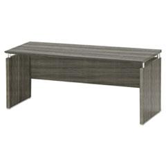 Safco® Medina Series Laminate Credenza, 72w x 20d x 29.5h, Gray Steel