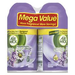 Air Wick® Freshmatic Ultra Spray Refill, Lavender/Chamomile, Aerosol, 6.17oz,2/Pk, 3 Pk/Ct RAC85595