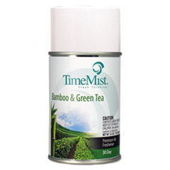 TimeMist® Premium Metered Air Freshener Refill, Bamboo and Green Tea 6.6 oz Aerosol, 12/Carton