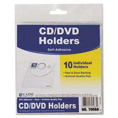 C-Line® Self-Adhesive CD Holder