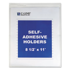 "Self-Adhesive Shop Ticket Holders, Heavy, 15"", 8 1/2 x 11"