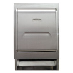 Kimberly-Clark Professional* MOD Recessed Dispenser Housing with Trim Panel, 11.13 x 4 x 15.37, Stainless Steel