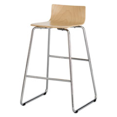 Safco® Bosk Wood Stool, Natural Beech SAF4299BH