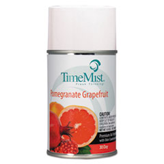 TimeMist® Premium Metered Air Freshener Refill, Pomegranate Grapefruit, 6.6 oz Aerosol, 12/Carton