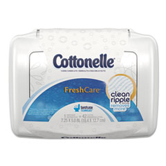 Cottonelle® Fresh Care Flushable Cleansing Cloths, White, 3.75 x 5.5, 42/Pack