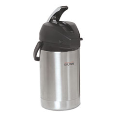 BUNN® 2.5 Liter Lever Action Airpot, Stainless Steel