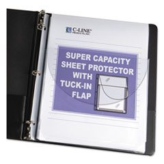 "C-Line® Super Capacity Sheet Protector with Tuck-In Flap, 200"", Letter Size, 10/Pack"