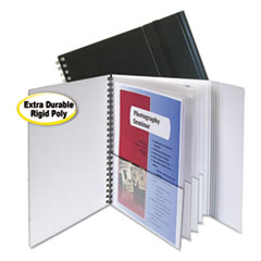 C-Line® Eight-Pocket Portfolio with Security Flap, Polypropylene, 8 1/2 x 11, Black