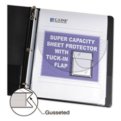 C-Line® Super Capacity Sheet Protector with Tuck-In Flap Thumbnail