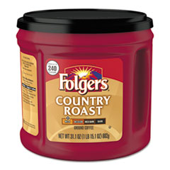Folgers® Coffee, Country Roast, 31.1 oz Canister, 6/Carton