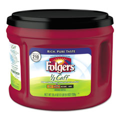 Folgers® Coffee, Half Caff, 25.4 oz Canister, 6/Carton