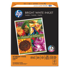 HP Bright White Inkjet Paper, 97 Brightness, 24lb, 8-1/2 x 11, 500 Sheets/Ream