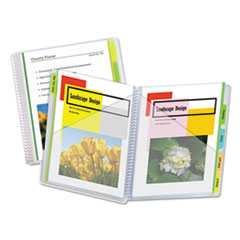 C-Line® 10-Pocket Poly Portfolio with Write-On Tabs, 8.5 x 11, Clear/Clear