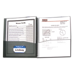 C-Line® Eight-Pocket Portfolio, Polypropylene, 8.5 x 11, Smoke/Smoke
