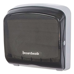 Boardwalk® Mini Folded Towel Dispenser, 5 3/8 x 12 3/8 x 13 7/8, Smoke Black BWKFT111SBBW