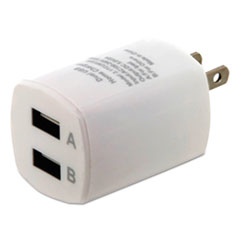 ByTech® Universal USB Home Charger, 2 Outlets, White