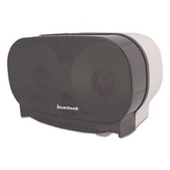 Boardwalk® Twin Toilet Tissue Dispenser, Two Standard Rolls, Smoke Black,5 3/8x11 1/8x7 7/8 BWKCT205SBBW