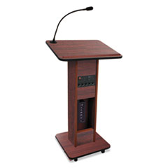 AmpliVox® Elite Lecterns with Wireless Sound System, 24w x 18d x 44h, Mahogany