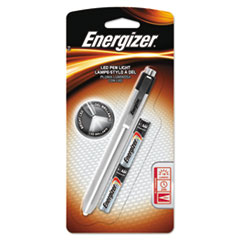 Energizer® Aluminum Pen LED Flashlight, 2 AAA, Black