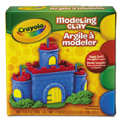 Crayola® Modeling Clay Assortment, 1/4 lb each Blue/Green/Red/Yellow, 1 lb