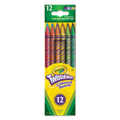 Twistables Colored Pencils, 12 Assorted Colors/Set