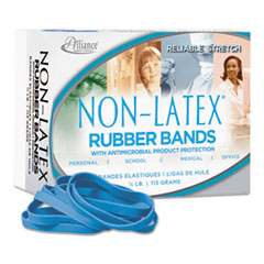 ALL42649 - Antimicrobial Non-Latex Rubber Bands, Sz. 64, 3-1/2 x 1/4, 1/4lb Box