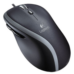 Logitech® M500 Corded Mouse, Three-Button/Scroll, Black/Silver