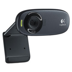 Logitech® C310 HD Webcam, 1280 pixels x 720 pixels, 1 Mpixel, Black