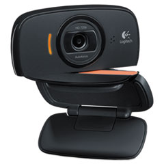 Logitech® C525 Portable HD Webcam, 1280 pixels x 720 pixels, 1 Mpixel, Black