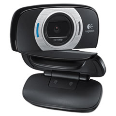 Logitech® C615 HD Webcam, 1920 pixels x 1080 pixels, 2 Mpixels, Black