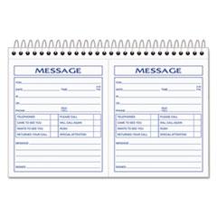 TOPS™ Spiralbound Message Book, 4 1/4 x 5, Carbonless Duplicate, 200 Sets/Book