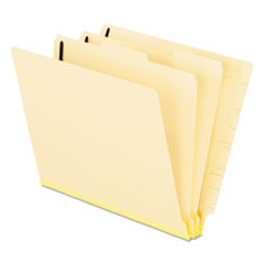 Pendaflex® Manila End Tab Classification Folders, 2 Dividers, Letter Size, Manila, 10/Box