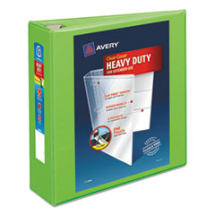 """Avery® Heavy-Duty View Binder w/Locking EZD Rings, 3"""" Cap, Chartreuse AVE79779"""