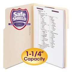 Smead® Extra-Capacity Manila Fastener Folders With SafeSHIELD® Coated Fasteners Thumbnail