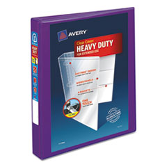 "Heavy-Duty View Binder with DuraHinge and Locking One Touch EZD Rings, 3 Rings, 1"" Capacity, 11 x 8.5, Purple"