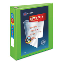 "Avery® Heavy-Duty View Binder w/Locking EZD Rings, 2"" Cap, Chartreuse AVE79776"
