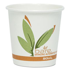 Dart® Bare by Solo Eco-Forward Recycled Content PCF Paper Hot Cups, 4 oz, 1,000/Carton