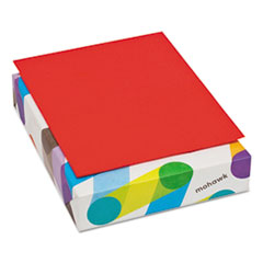 Mohawk BriteHue Multipurpose Colored Paper, 24lb, 8 1/2 x 11, Red, 500 Sheets