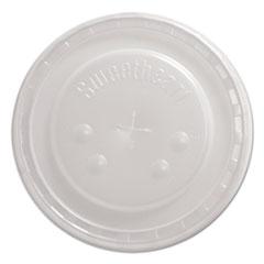 Dart® Plastic Flat Straw-Slot Cold Cup Lids f/32, 44 oz Cups, 80/Pack, 12 Pk/Ctn