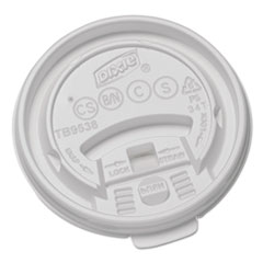 Dixie® Plastic Lids for Hot Drink Cups, 8oz, White, 1000/Carton