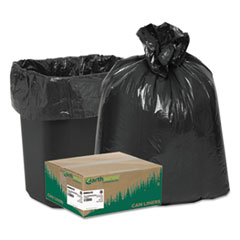 "Earthsense® Commercial Linear Low Density Recycled Can Liners, 10 gal, 0.85 mil, 24"" x 23"", Black, 500/Carton"