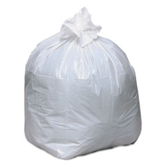 "Linear-Low-Density Recycled Tall Kitchen Bags, 13 gal, 0.85 mil, 24"" x 33"", White, 150/Box"