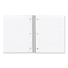 National® Single-Subject Wirebound Notebooks, 1 Subject, Medium/College Rule, Assorted Color Covers, 11 x 8.88, 100 Sheets