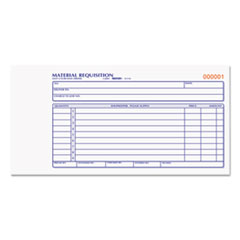 Rediform® Material Requisition Book, 7 7/8 x 4 1/4, Two-Part Carbonless, 50-Set Book