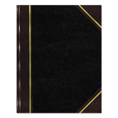 National® Texthide Record Book, Black/Burgundy, 300 Green Pages, 14 1/4 x 8 3/4